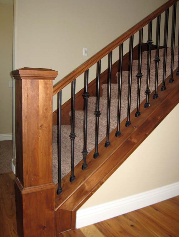 rod iron stair railing spindles
