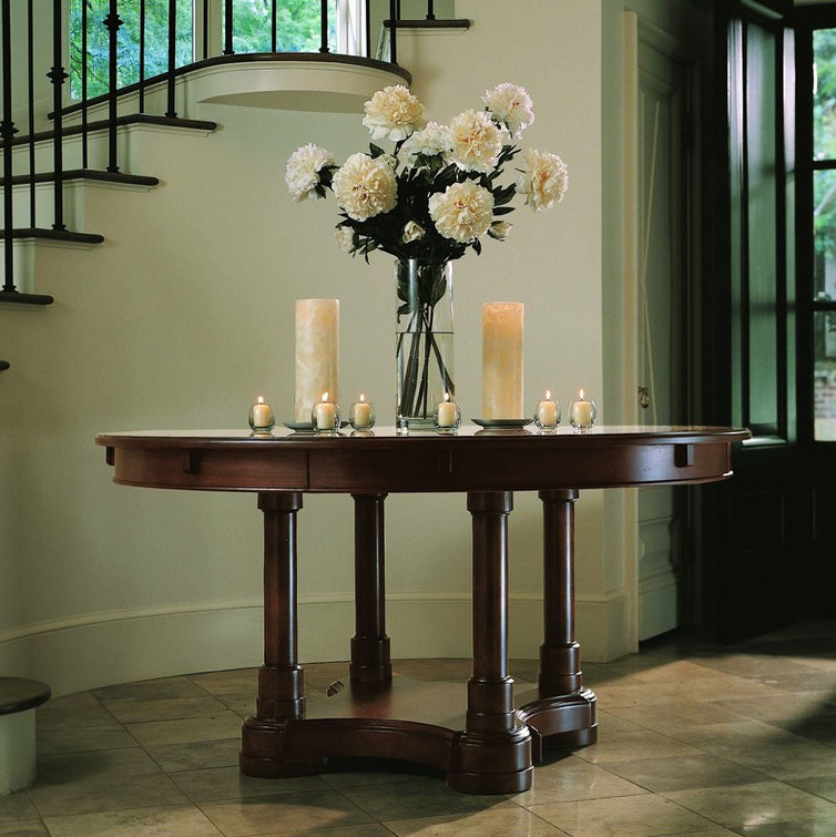 Round Foyer Table Decorating Ideas Interesting Ideas for  : round foyer table decorating ideas from correctlydesign.com size 754 x 755 jpeg 141kB