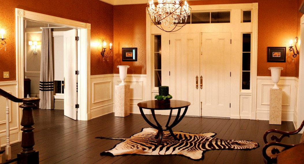 round tables for entry foyer