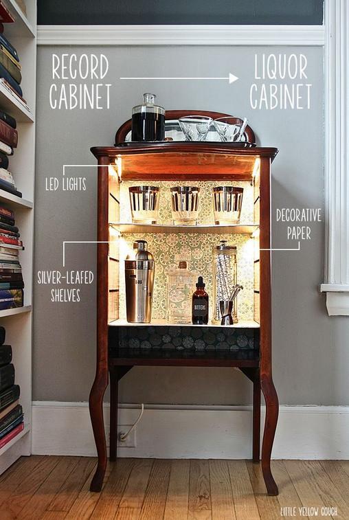 small liquor cabinet