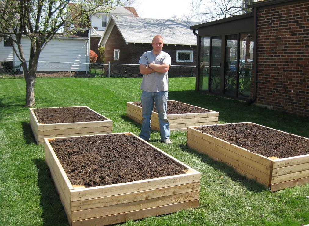 small raised garden box