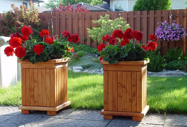 Square Wooden Planter Boxes Interesting Ideas For Home