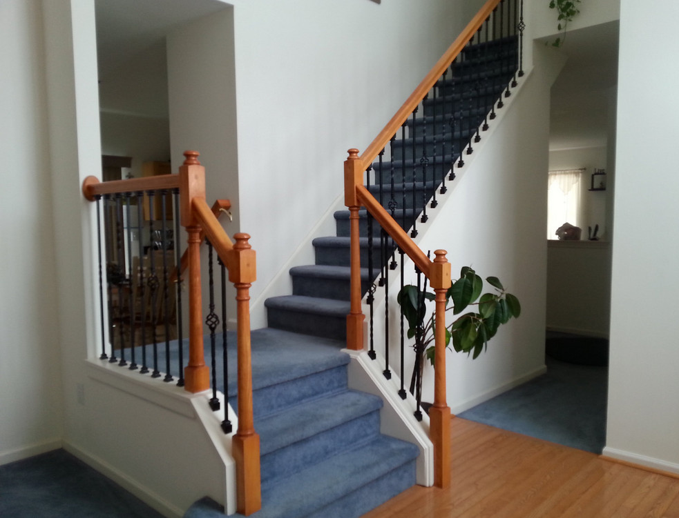 staircase balusters wrought iron