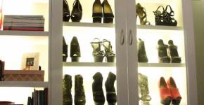 vertical shoe cubby