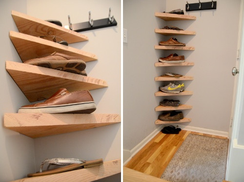 Vertical Shoe Rack Plans