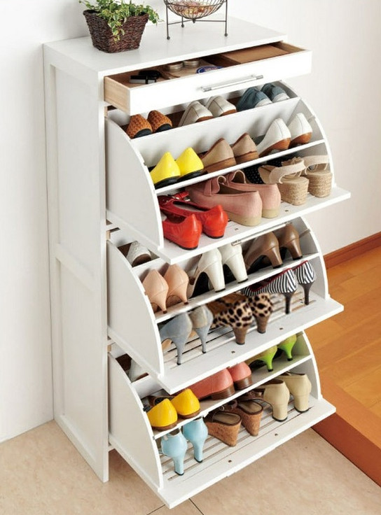 Vertical shoe storage interesting ideas for home - Shoe organizers for small spaces design ...