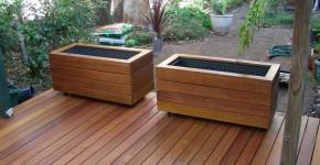 vintage wooden planter boxes