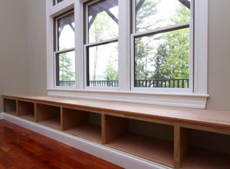 Window Bench With Book Shelves