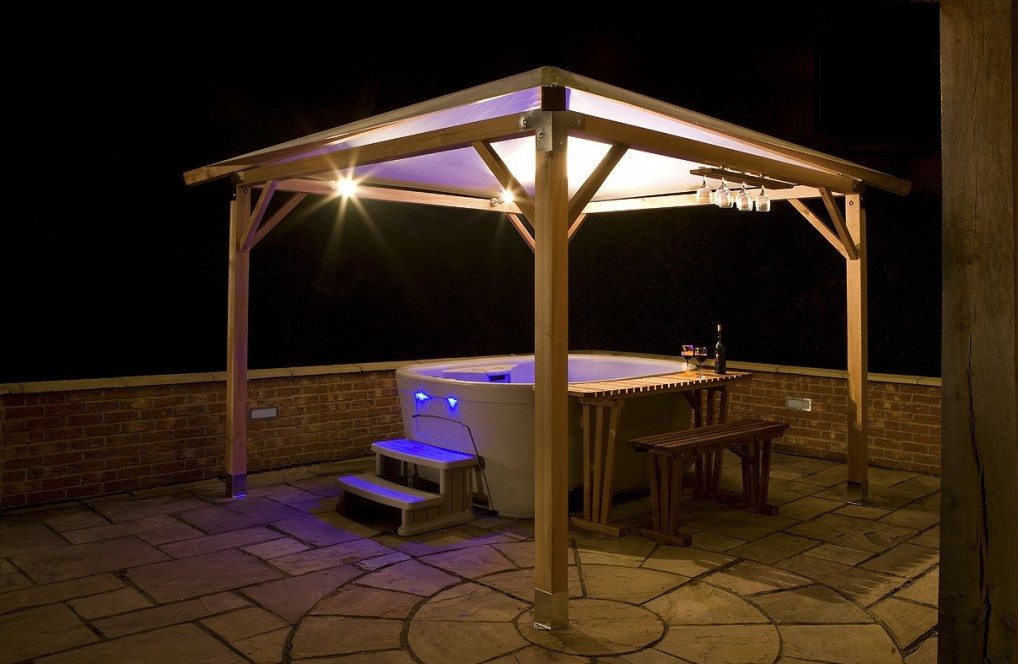 Wooden Hot Tub Gazebo