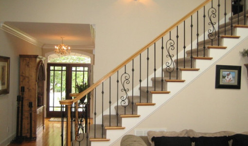 wrought iron railings interior