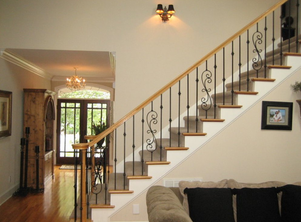 Wrought iron railings interior interesting ideas for home for Interior iron railing designs