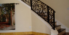 wrought iron stair railing interior