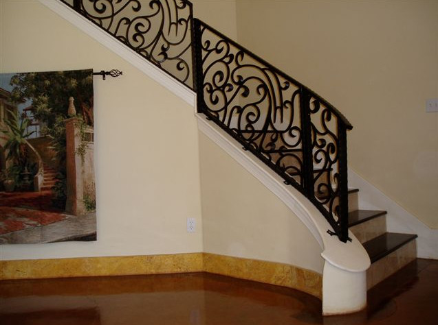 Wrought Iron Stair Railing Interior Interesting Ideas