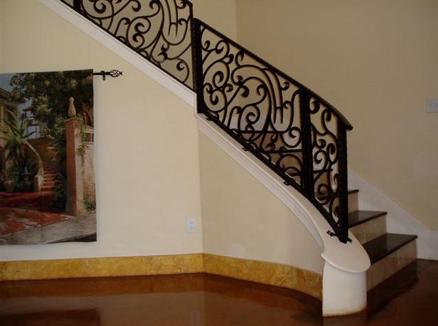 wrought iron stair railing interior
