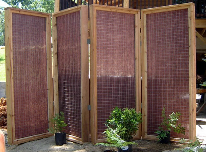 apartment patio privacy ideas use a cheap 3 picnic mat and zip ties to create shade - Apartment Patio Privacy Ideas