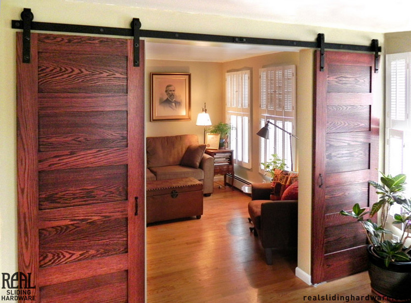 Barn Door Room Divider  2