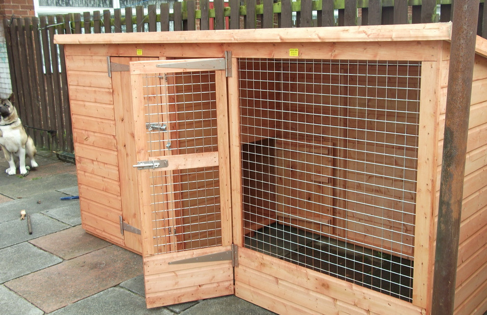 Best outdoor dog kennel interesting ideas for home for Dog kennel in garage ideas