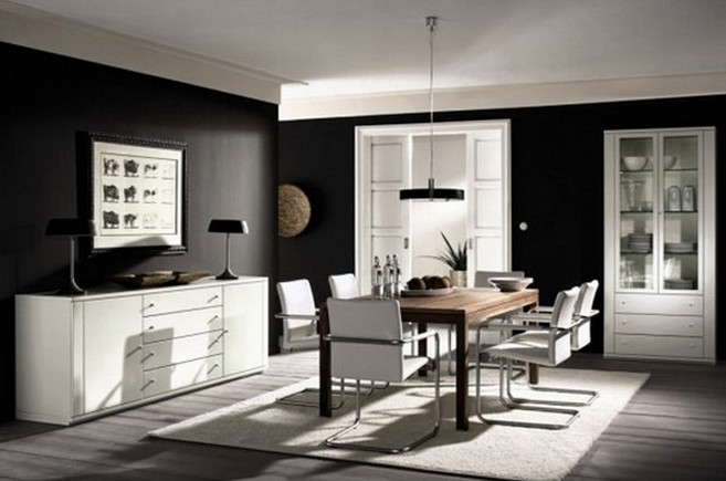 Black and White Painted Rooms