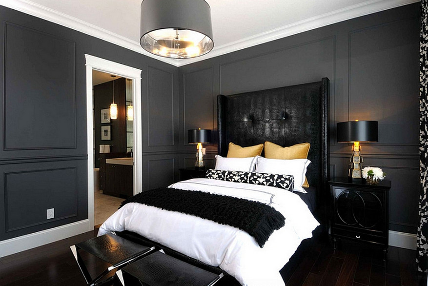 Black and white painted rooms interesting ideas for home for Black and white room painting ideas