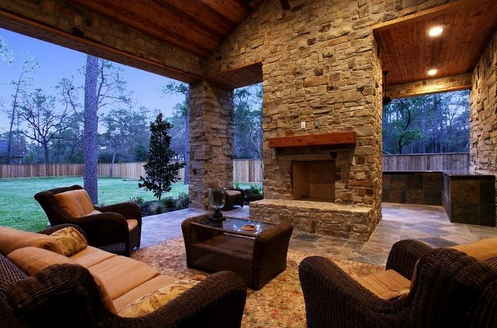 Covered Patios with Fireplaces  2