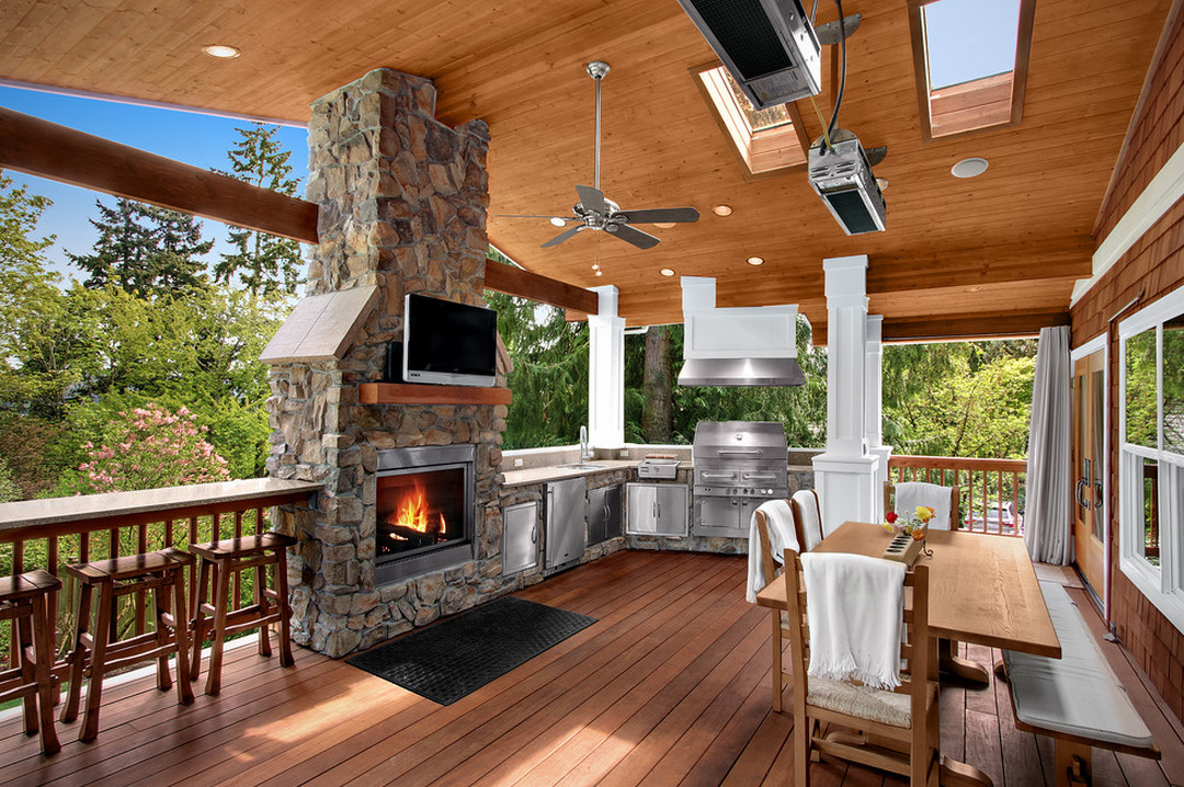 Covered Patios with Fireplaces  3