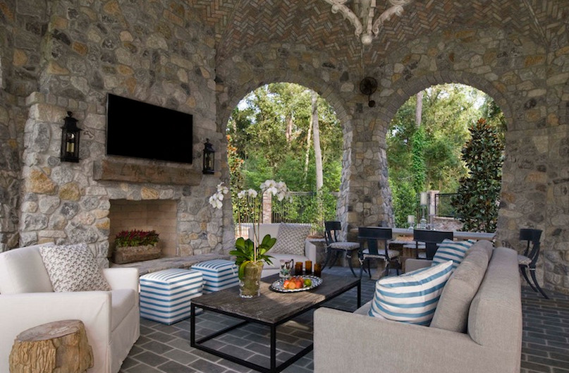 Covered Patios with Fireplaces  5
