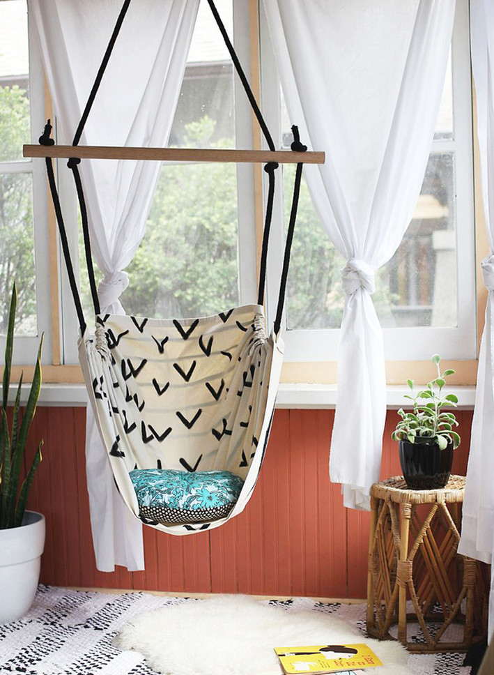 Diy hanging hammock chair ideas interesting ideas for home for Diy bedroom hammock