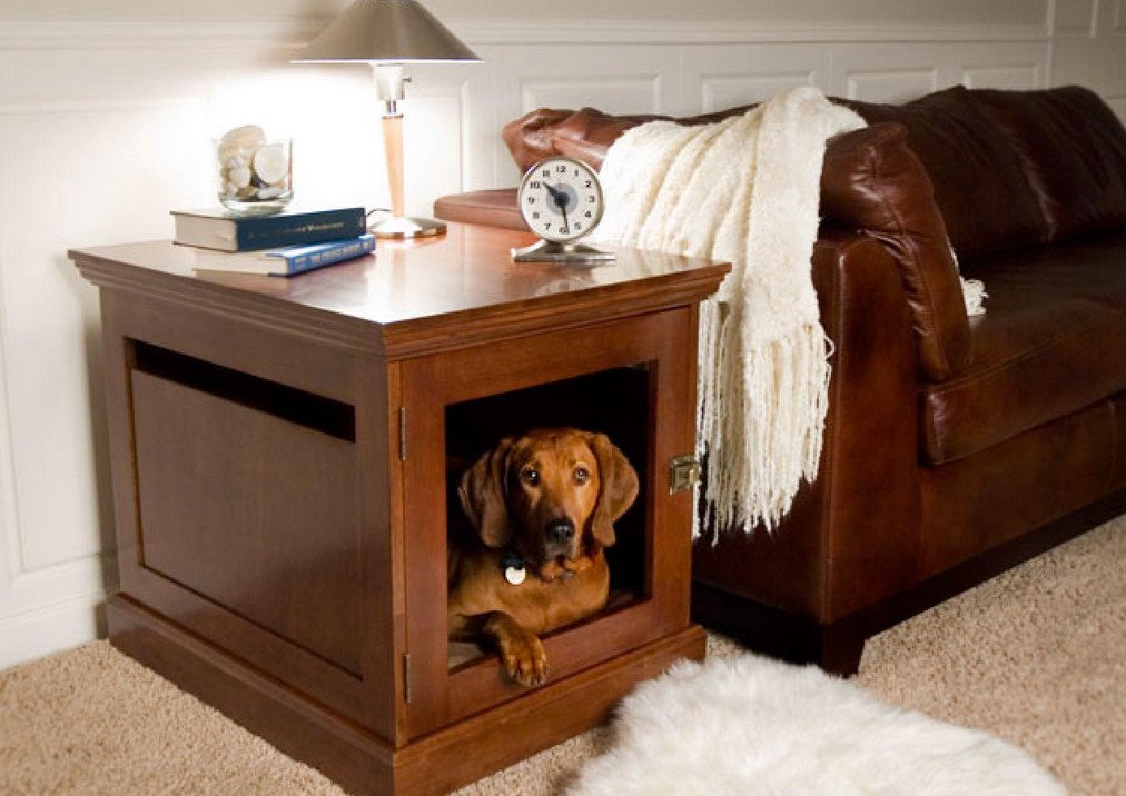 Beautiful indoor dog cage gallery interior design ideas for Indoor outdoor dog kennel design