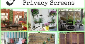 DIY Outdoor Privacy Screen 2