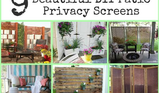 DIY Outdoor Privacy Screen 2