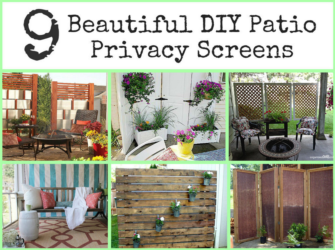 Diy backyard privacy screens diy projects for Rustic outdoor privacy screens