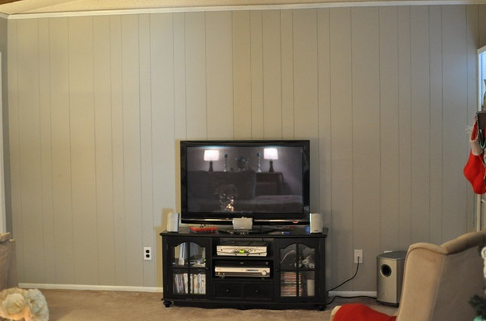 DIY Wood Paneling Makeover 2