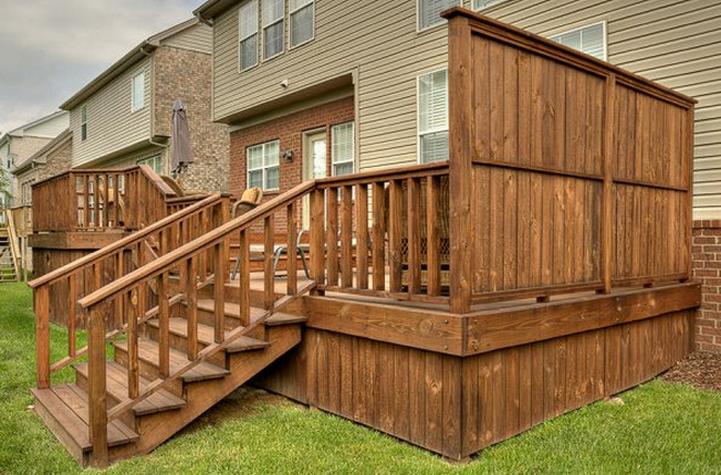 Deck With A Privacy Wall Interesting Ideas For Home