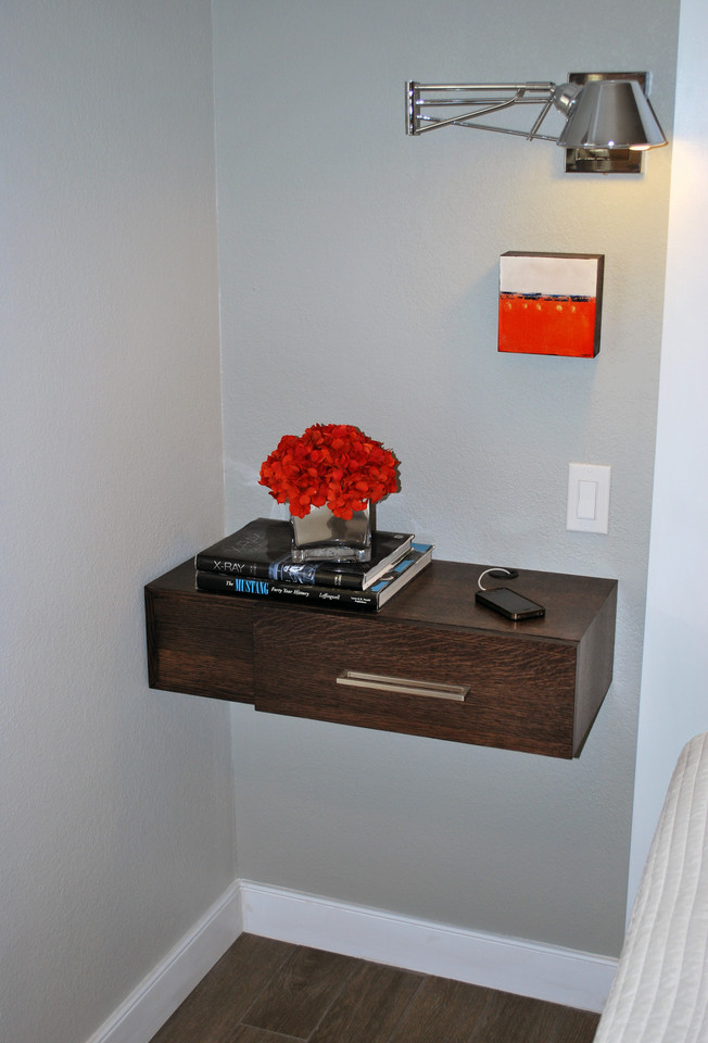 Floating shelf bedside table interesting ideas for home for Bedside table shelf