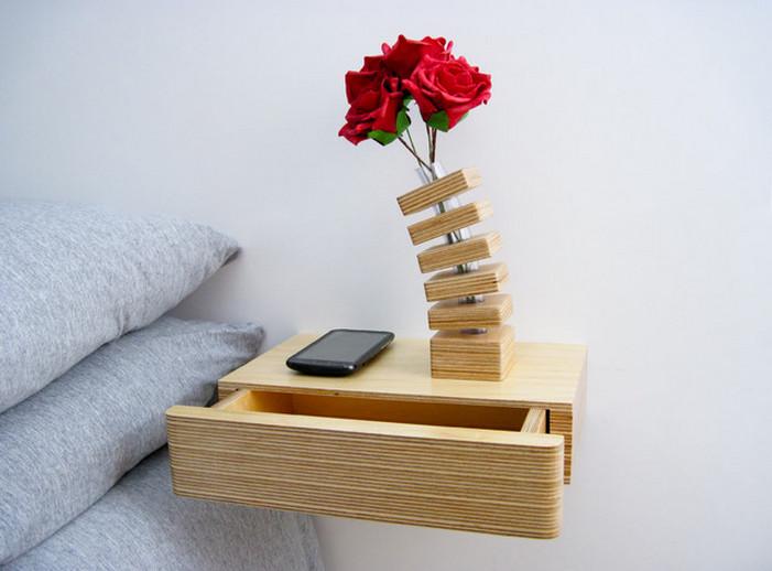Floating Shelf Bedside Table