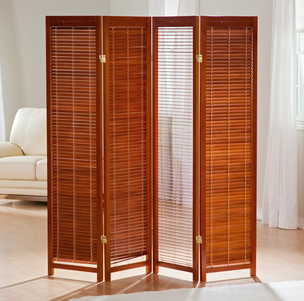 Free standing privacy screen interesting ideas for home - Biombos de madera ...