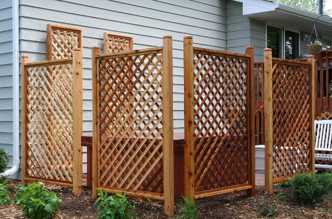 Free standing privacy screen interesting ideas for home for Tall outdoor privacy screen panels