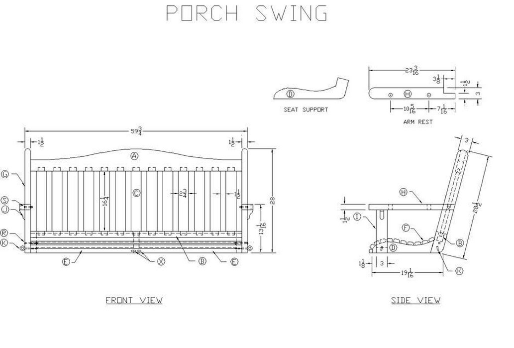 Hanging Porch Swing Plans 3