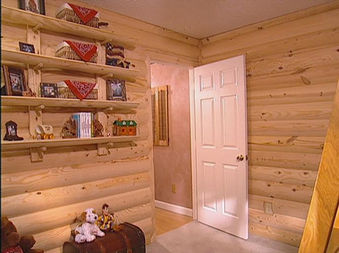 Interior Log Cabin Paneling