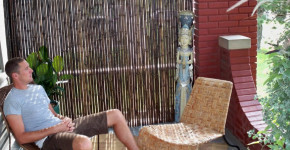 Outdoor Bamboo Privacy Screen