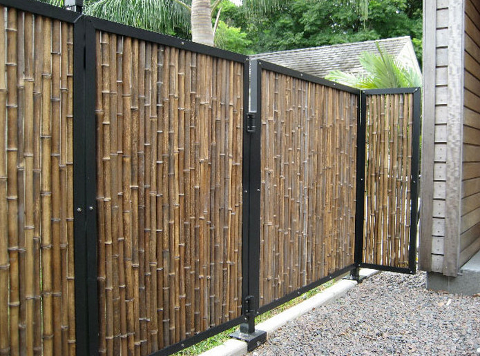 Outdoor Bamboo Privacy Screen2