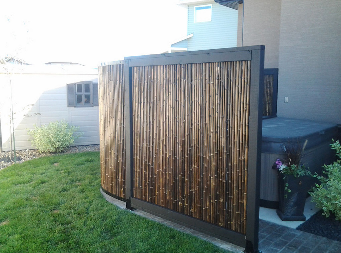 Outdoor Bamboo Privacy Screen Interesting Ideas For Home