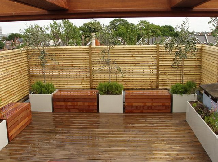 Outdoor bamboo privacy screen interesting ideas for home for Wood patio privacy screens