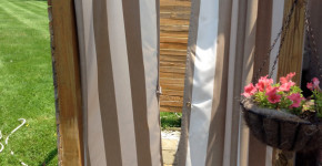 Outdoor Shower Curtain Ideas 2