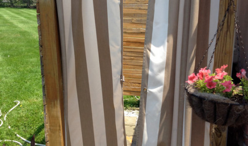 Interesting ideas for home part 5 for Outdoor curtain drain