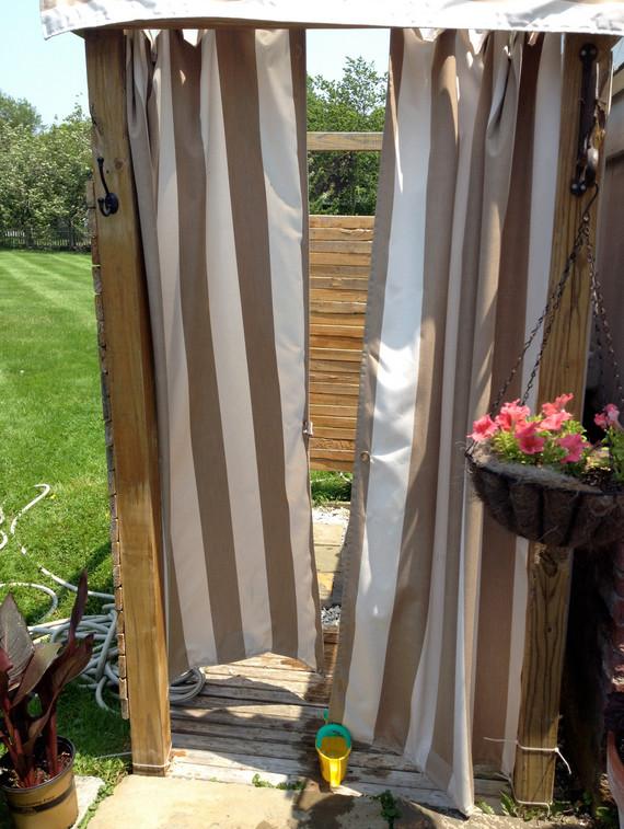Outdoor Shower Curtain Ideas 2