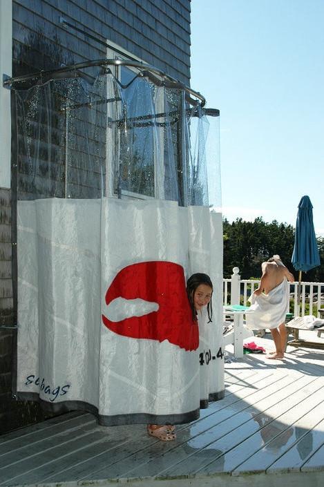 Outdoor Shower Curtain Ideas 3