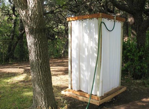Outdoor Shower Curtain Ideas 5