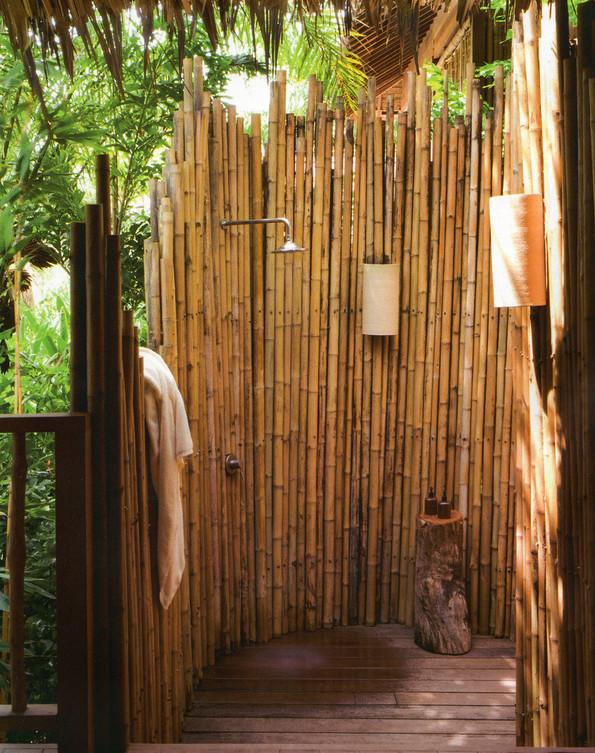 Outdoor Shower Curtain Ideas 7