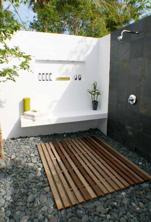 Outdoor Shower Drainage Ideas Interesting Ideas For Home